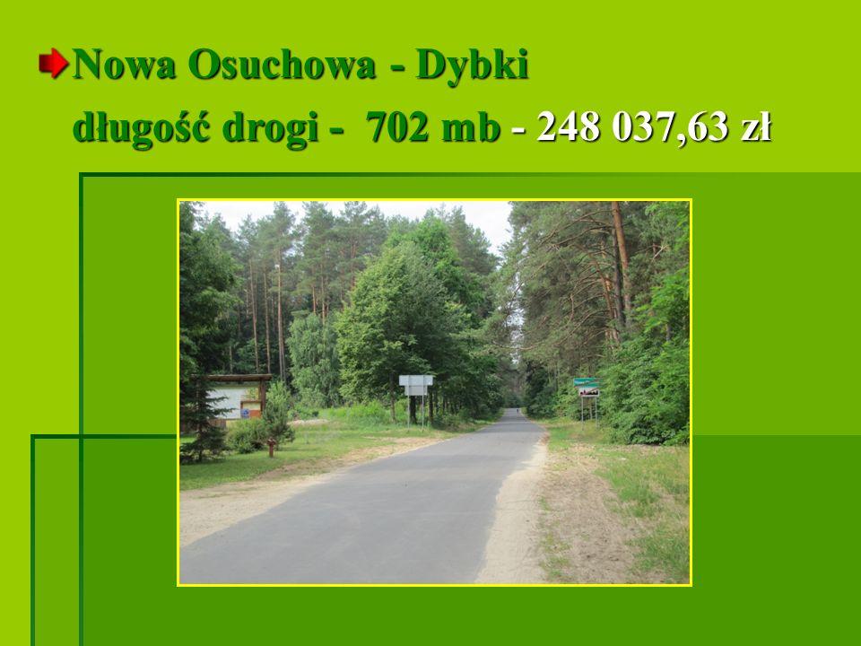 Podborze I etap - ul. Krzywa długość drogi - 814 mb - 308 255,49 zł