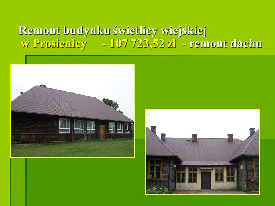 Przebudowa i remont świetlicy wiejskiej w Nieskórzu - 289 767,48 zł