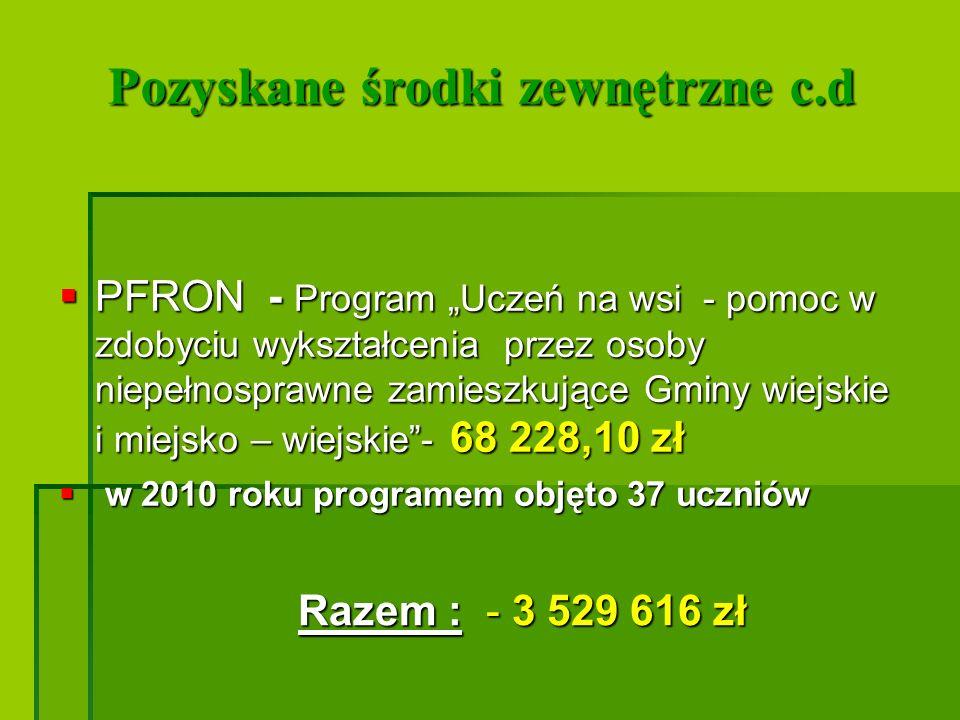 Preferencyjne pożyczki i kredyty Umarzalne pożyczki z WFOŚiGW - na realizację zadań: Umarzalne pożyczki z WFOŚiGW - na realizację zadań: -Budowa sieci kanalizacji sanitarnej z przyłączami w miejscowości Komorowo - 500 000,00 zł.