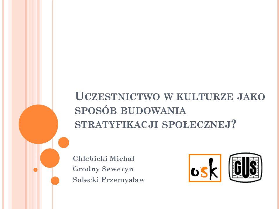 S TRUKTURA PREZENTACJI Prezentacja danych zebranych w badaniu Uczestnictwa Polaków w kulturze.