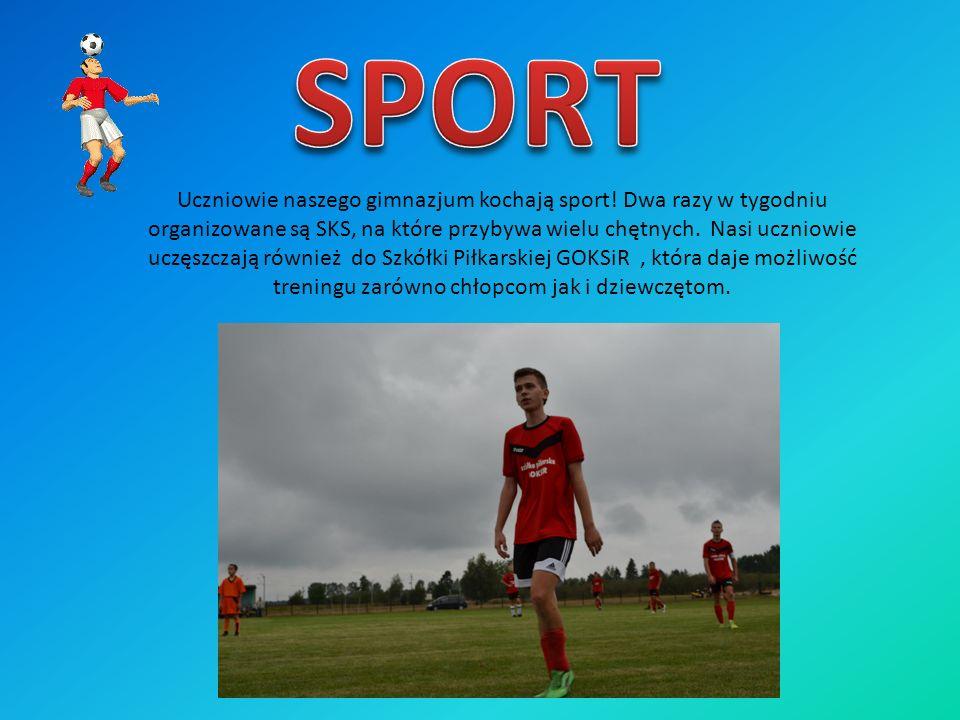 Uczniowie naszego gimnazjum kochają sport! Dwa razy w tygodniu organizowane są SKS, na które przybywa wielu chętnych. Nasi uczniowie uczęszczają równi