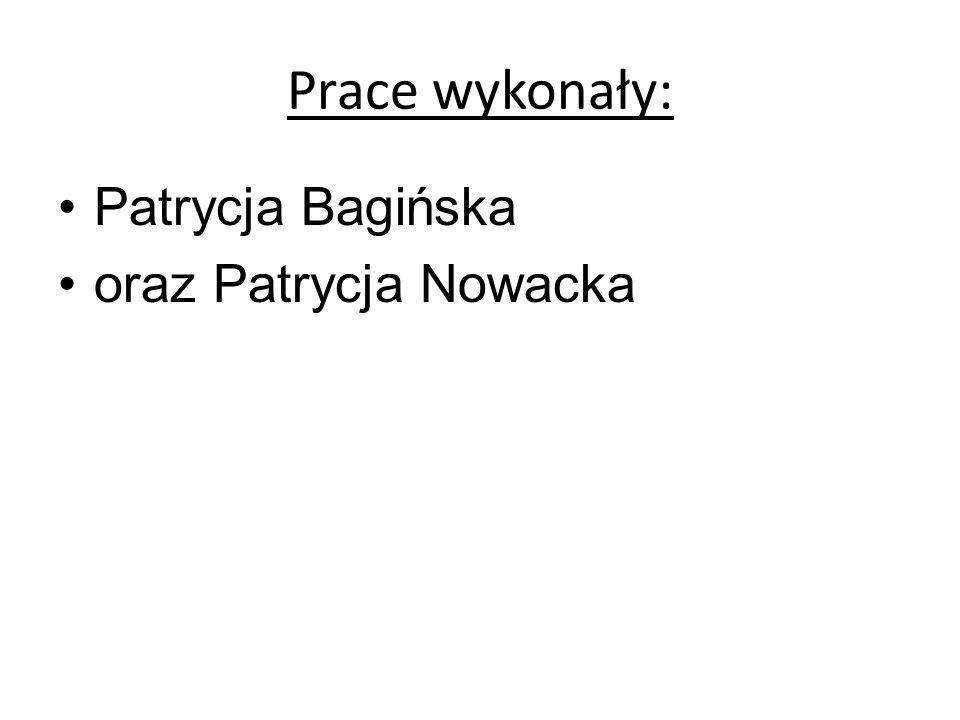 Prace wykonały: Patrycja Bagińska oraz Patrycja Nowacka