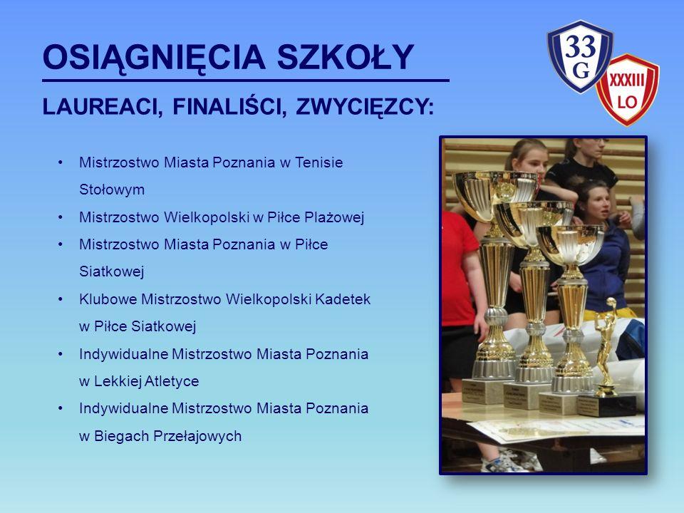 Mistrzostwo Miasta Poznania w Tenisie Stołowym Mistrzostwo Wielkopolski w Piłce Plażowej Mistrzostwo Miasta Poznania w Piłce Siatkowej Klubowe Mistrzo