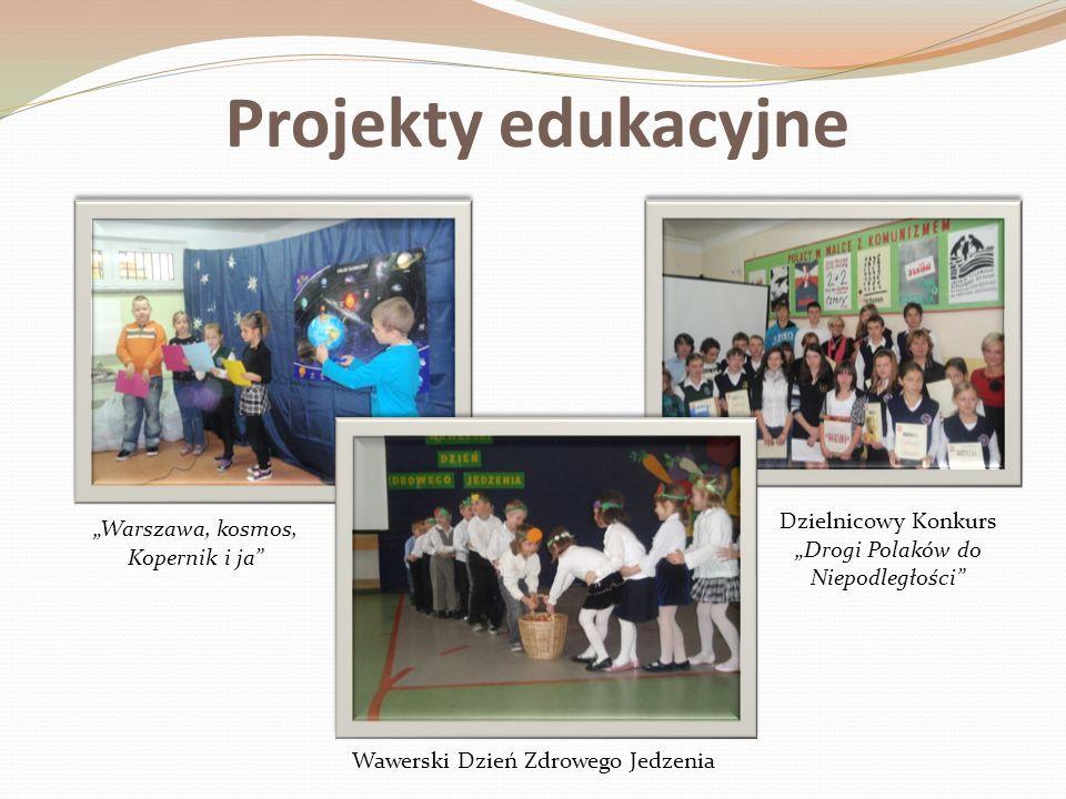Projekty edukacyjne Warszawa, kosmos, Kopernik i ja Wawerski Dzień Zdrowego Jedzenia Dzielnicowy Konkurs Drogi Polaków do Niepodległości