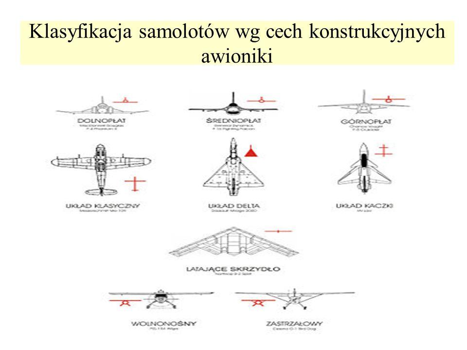 Klasyfikacja samolotów wg cech konstrukcyjnych awioniki