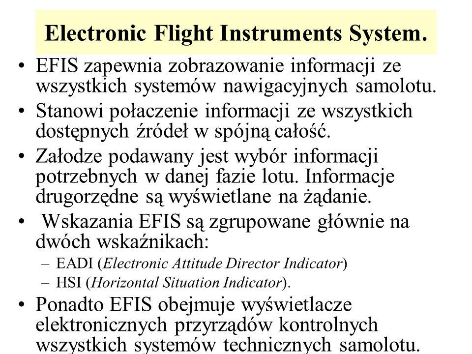 Electronic Flight Instruments System. EFIS zapewnia zobrazowanie informacji ze wszystkich systemów nawigacyjnych samolotu. Stanowi połaczenie informac