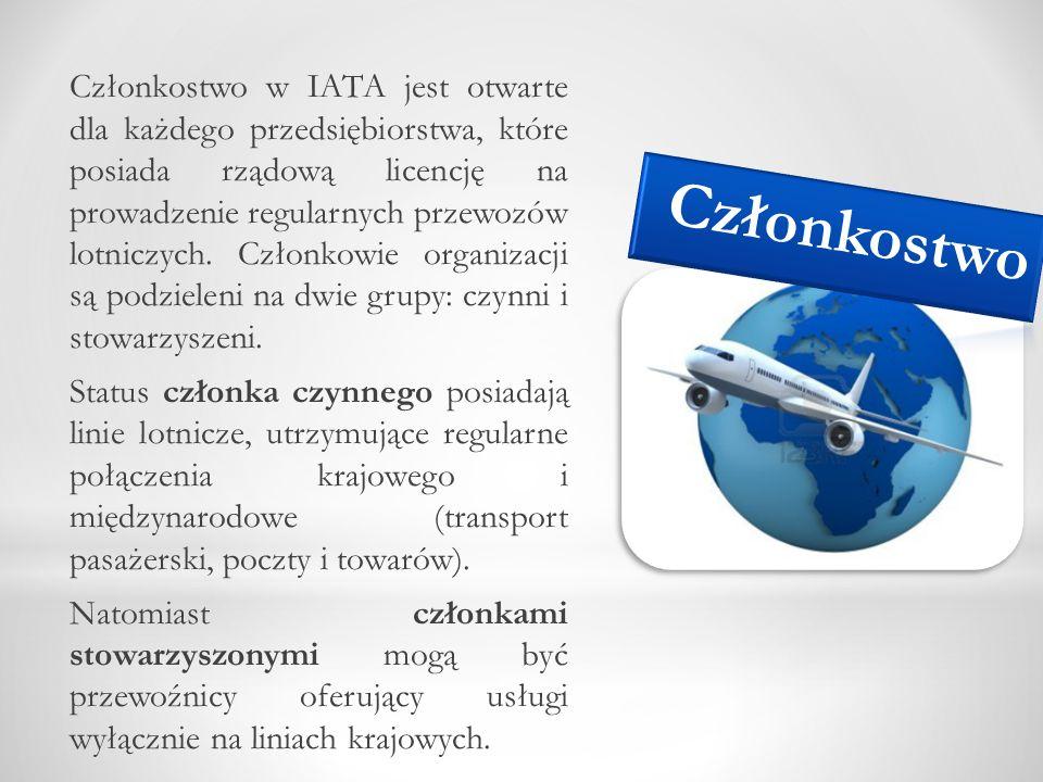 Członkostwo w IATA jest otwarte dla każdego przedsiębiorstwa, które posiada rządową licencję na prowadzenie regularnych przewozów lotniczych. Członkow