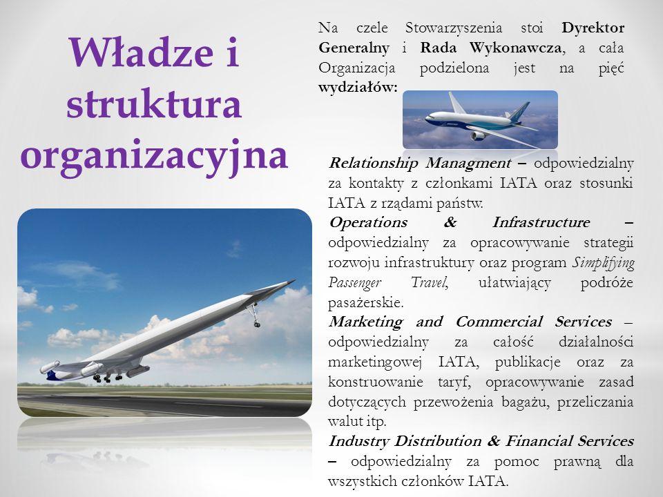 Władze i struktura organizacyjna Na czele Stowarzyszenia stoi Dyrektor Generalny i Rada Wykonawcza, a cała Organizacja podzielona jest na pięć wydział