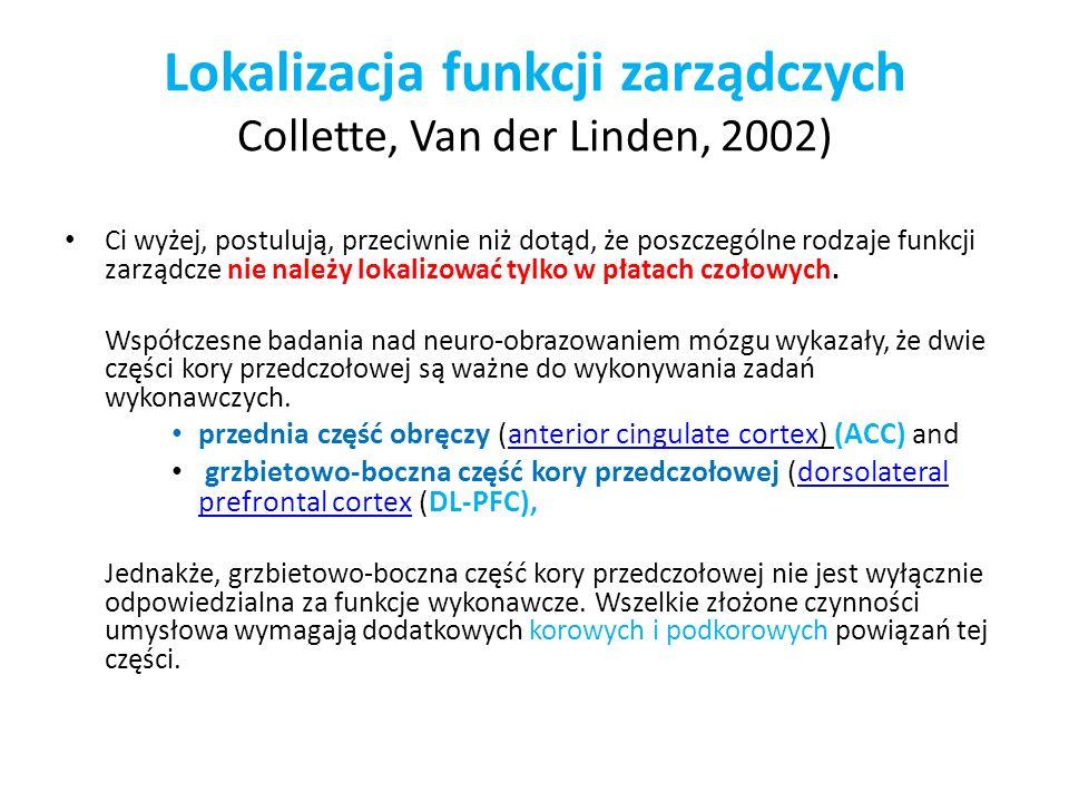 Lokalizacja funkcji zarządczych Collette, Van der Linden, 2002) Ci wyżej, postulują, przeciwnie niż dotąd, że poszczególne rodzaje funkcji zarządcze n