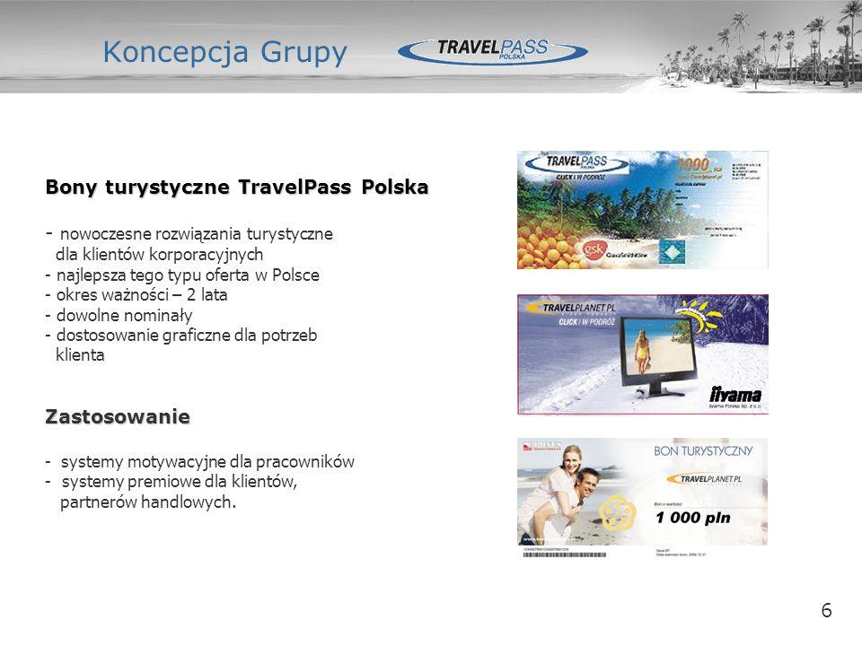 6 Koncepcja Grupy Zarząd Office Dział Marketingu Bony turystyczne TravelPass Polska - nowoczesne rozwiązania turystyczne dla klientów korporacyjnych -