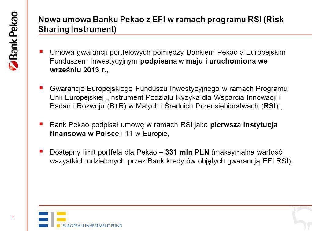 Kredyty dla innowacyjnych firm z gwarancją Europejskiego Funduszu Inwestycyjnego Poznań, 21 października 2013