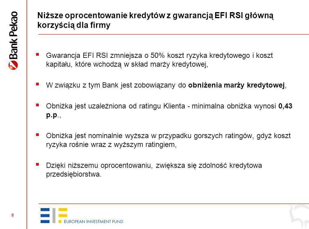 7 Kto może skorzystać z kredytu z gwarancją EFI RSI (4)? nrKryterium Czy finansowany projekt musi być innowacyjny? 5. Kredytobiorca otrzymał w ciągu o