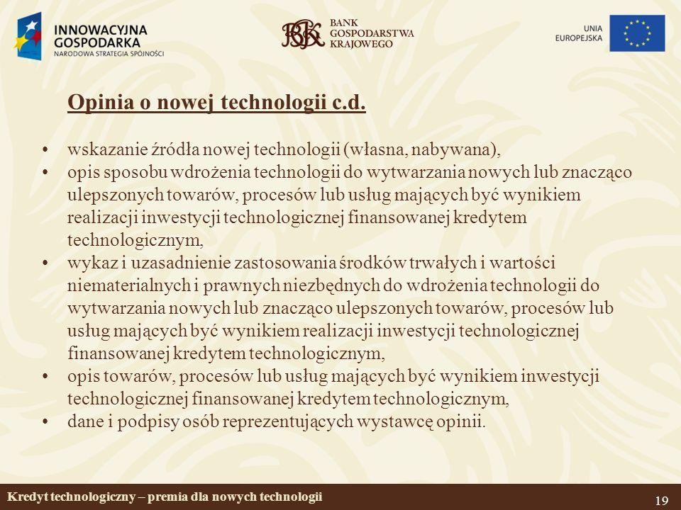 19 Opinia o nowej technologii c.d.