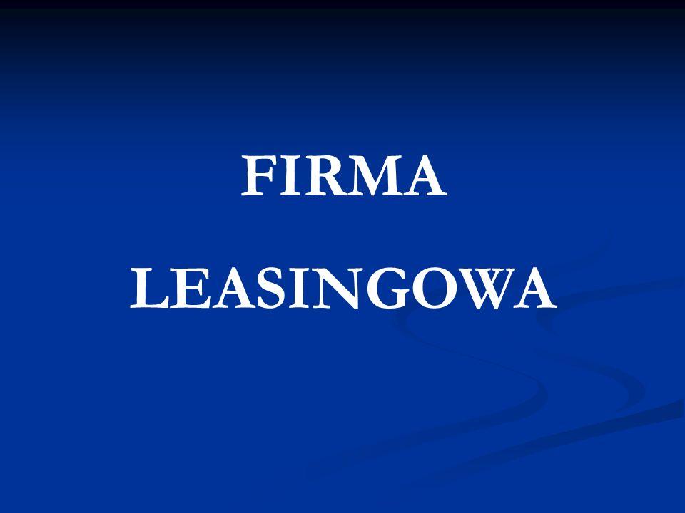 Firma Leasingowa Plan Prezentacji Plan Prezentacji 1.