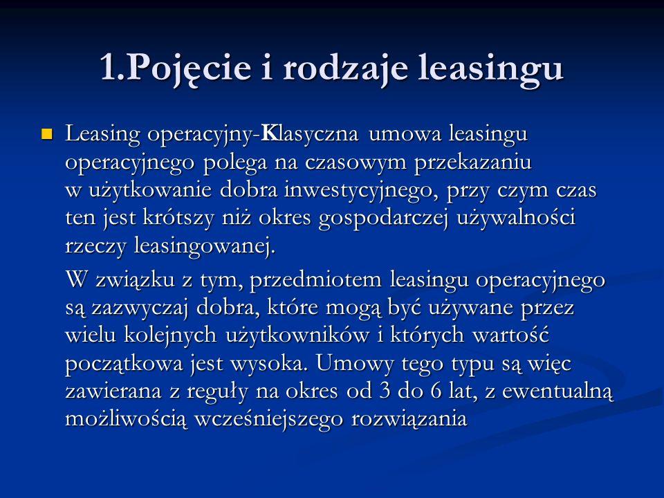 Leasing Finansowy-W umowie leasingu finansowego mamy do czynienia z odwrotną sytuacją.