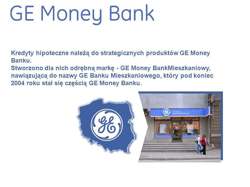 Kredyty hipoteczne należą do strategicznych produktów GE Money Banku.
