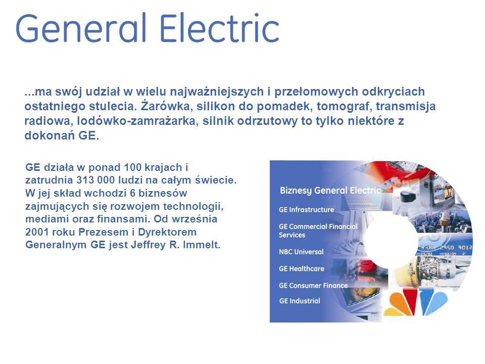 GE działa w ponad 100 krajach i zatrudnia 313 000 ludzi na całym świecie.