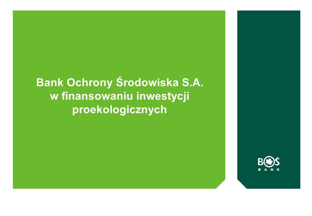 Bank Ochrony Środowiska S.A. w finansowaniu inwestycji proekologicznych