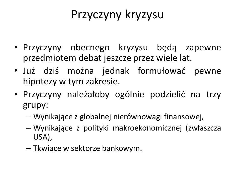 Sytuacja sektora bankowego Sektor bankowy będzie mógł rozwijać akcję kredytową wspierając procesy rozwojowe polskiej gospodarki w zależności od: – Bazy depozytowej (krajowej) umożliwiającej rozwijanie akcji kredytowej, – Dopływu środków na refinansowanie akcji kredytowej z zagranicy, – Sytuacji kapitałowej zależnej od wyników finansowych oraz ewentualnego zwiększenia kapitałów własnych poprzez emisję nowych akcji, – Jakości portfela kredytowego.