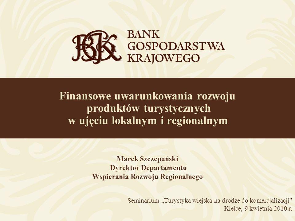 2 Zakres prezentacji Bank Gospodarstwa Krajowego – podstawowe informacje Wsparcie przedsięwzięć turystycznych z funduszy UE w latach 2007-2013 Wybrane produkty Banku Gospodarstwa Krajowego Przykłady finansowania przez BGK projektów turystycznych Wyzwania związane z finansowaniem projektów turystycznych Turystyka wiejska na drodze do komercjalizacji