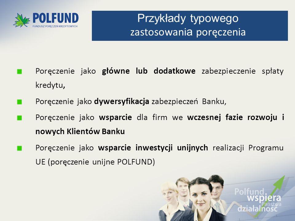 Poręczenie jako główne lub dodatkowe zabezpieczenie spłaty kredytu, Poręczenie jako dywersyfikacja zabezpieczeń Banku, Poręczenie jako wsparcie dla fi