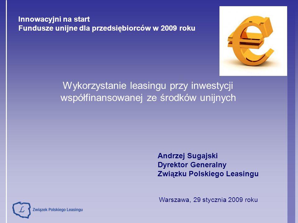 Szanse wniosku na rekomendację w zależności od zewnętrznego finansowania Źródło: Udział i rola instytucji finansowych w realizacji Działania 2.3 Sektorowego Programu Operacyjnego Wzrost Konkurencyjności Przedsiębiorstw, lata 2004-2006, Opinia, Agencja Badań Rynku, 2006 Tylko środki własne Z udziałem leasingu Z udziałem kredytu Niezależnie od finansowania (% wniosków rekomendowanych wśród wniosków złożonych)