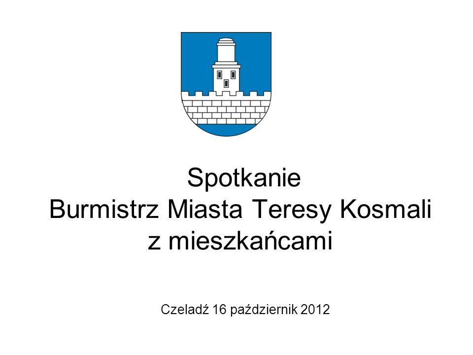 Spotkanie Burmistrz Miasta Teresy Kosmali z mieszkańcami Czeladź 16 październik 2012