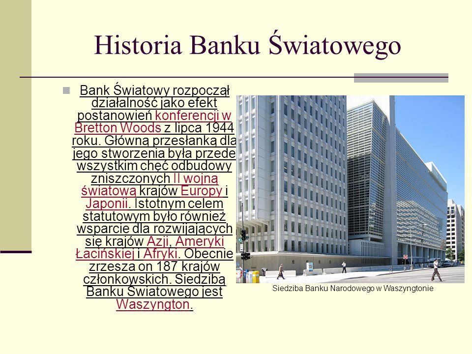 Członkowie Członkami banku mogą być kraje należące jednocześnie do Międzynarodowego Funduszu Walutowego.