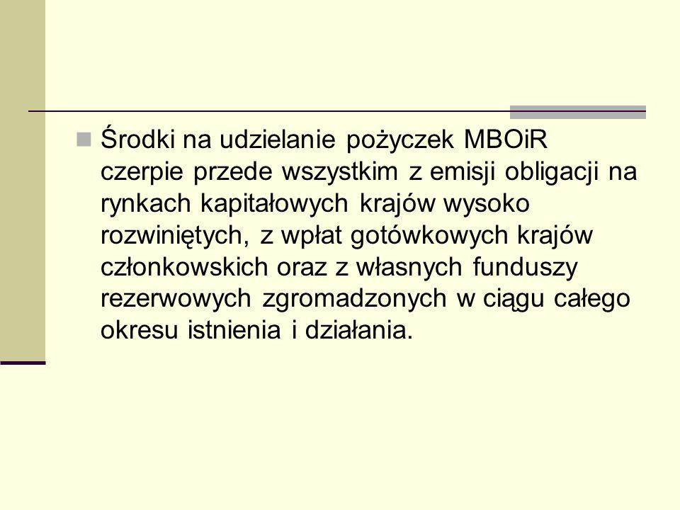 Polska a Międzynarodowy Bank Odbudowy i Rozwoju Polska była jednym z krajów założycielskich MBOiR, po czym w 1950 roku wystąpiła z niego, a następnie, po złożeniu w 1981 roku wniosku o ponowne przyjęcie, jest od 1986 roku członkiem MBOiR.