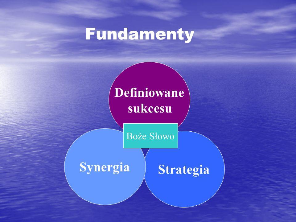 Strategia Definiowane sukcesu Synergia Boże Słowo Fundamenty