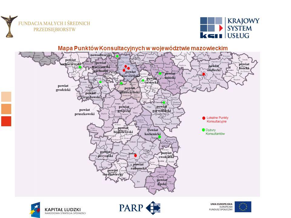 Logo ośrodka KSU Mapa Punktów Konsultacyjnych w województwie mazowieckim