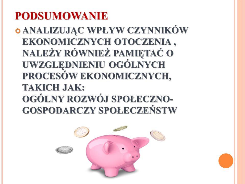 PROCESY EKONOMICZNE WPŁYWAJĄCE NA PRZEDSIĘBIORSTWO TURYSTYCZNE Powiązania gospodarcze między poszczególnymi państwami (np.