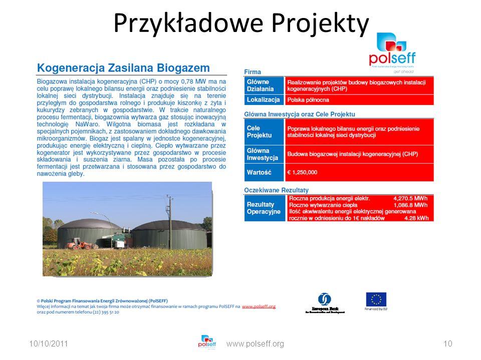 10/10/2011www.polseff.org10 Przykładowe Projekty