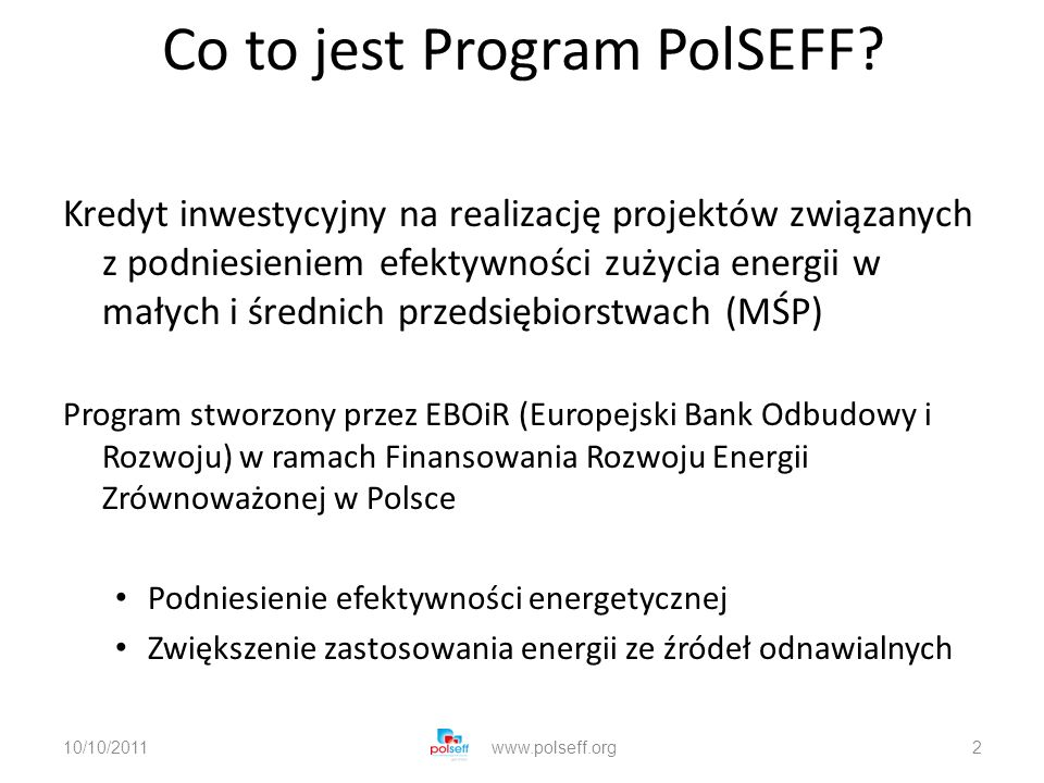 Co to jest Program PolSEFF.