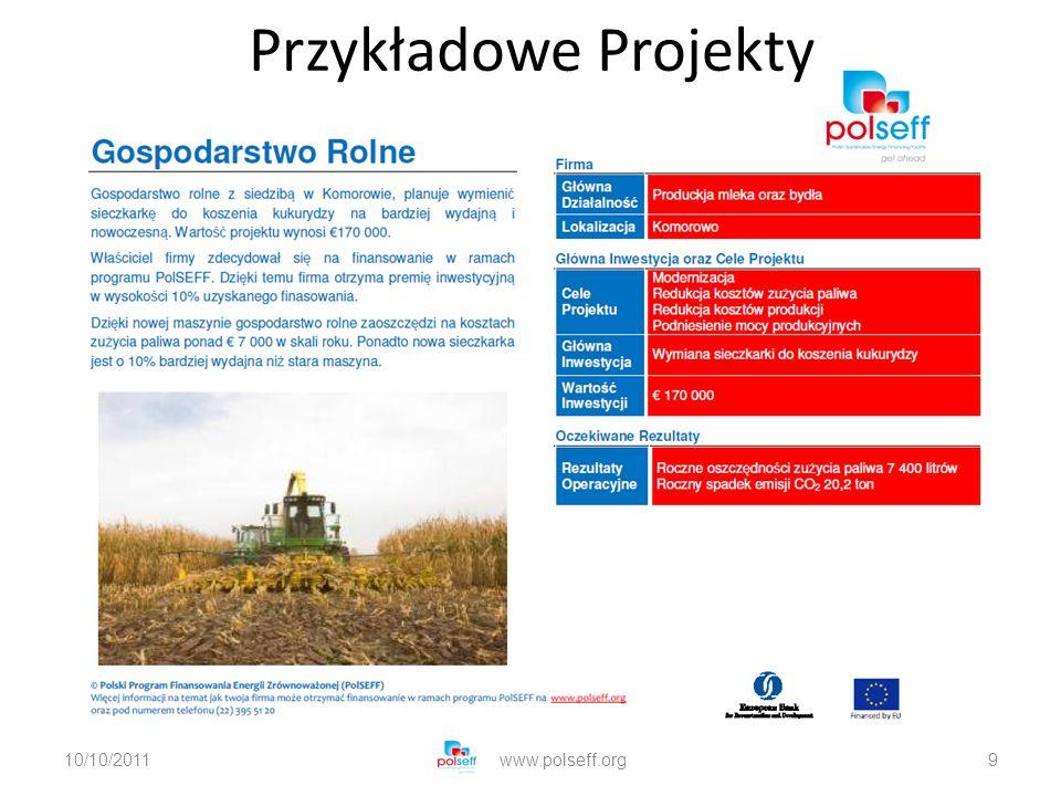 10/10/2011www.polseff.org9 Przykładowe Projekty