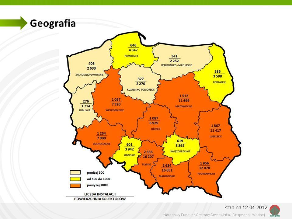 Narodowy Fundusz Ochrony Środowiska i Gospodarki Wodnej Geografia stan na 12-04-2012