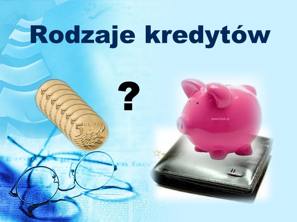 Rodzaje kredytów ?