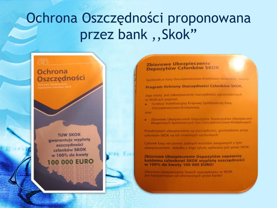 Ochrona Oszczędności proponowana przez bank,,Skok
