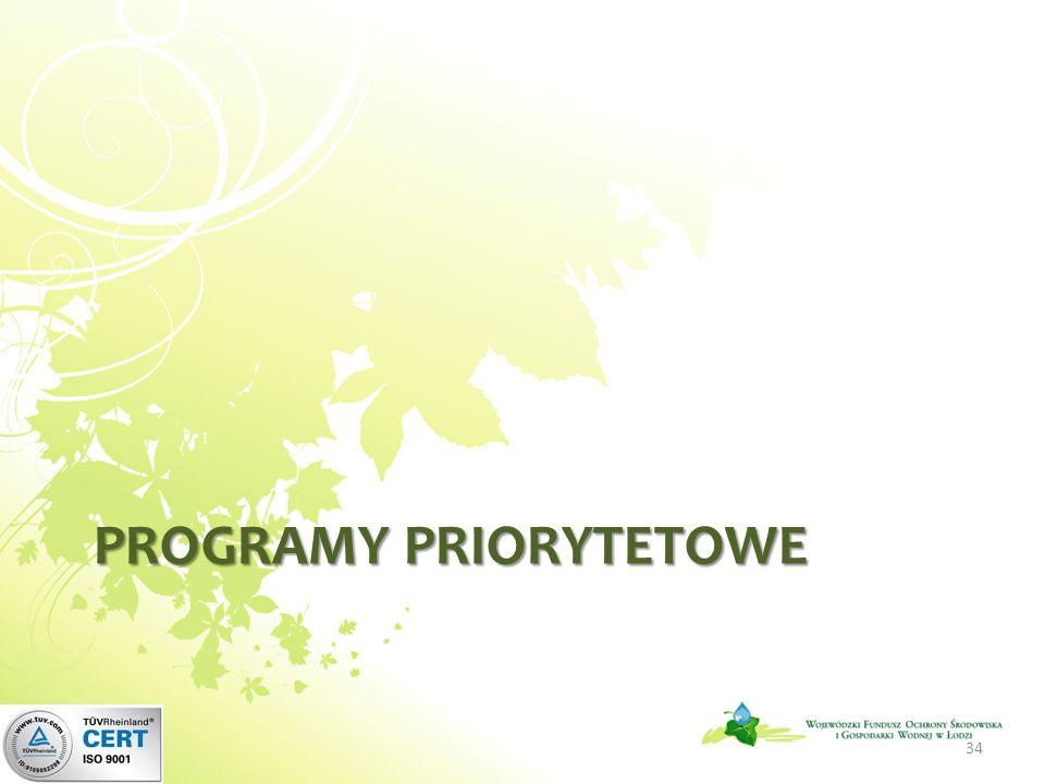 PROGRAMY PRIORYTETOWE 34