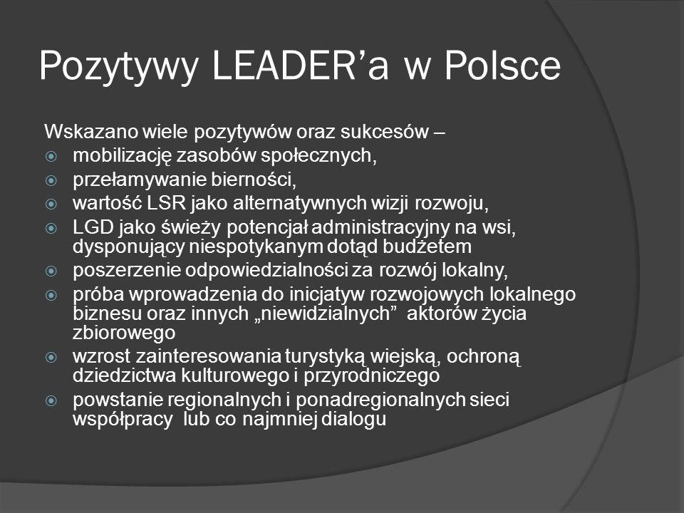 Pozytywy LEADERa.