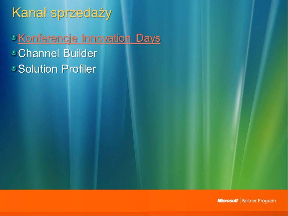 Kanał sprzedaży Konferencje Innovation Days Konferencje Innovation Days Channel Builder Solution Profiler