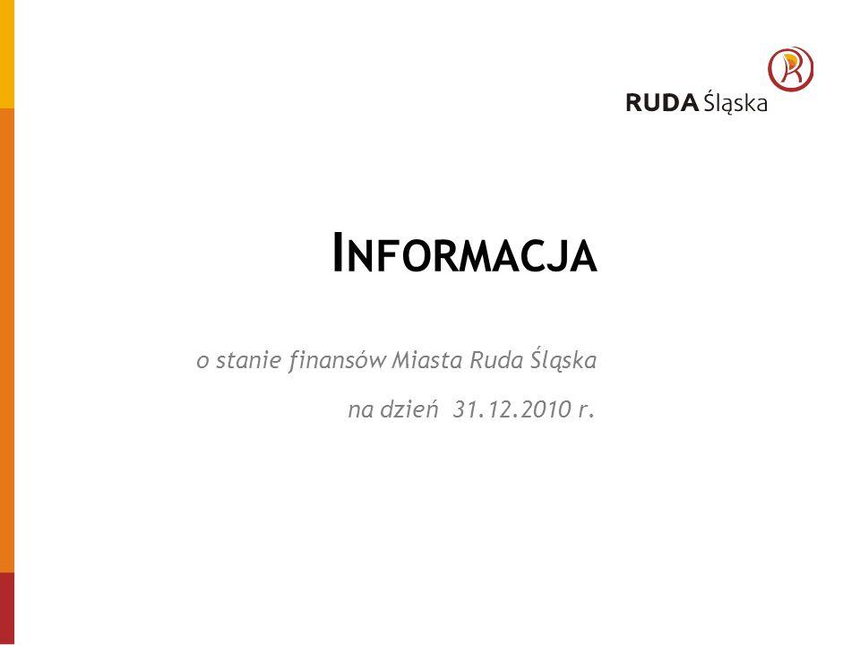 I NFORMACJA o stanie finansów Miasta Ruda Śląska na dzień 31.12.2010 r.