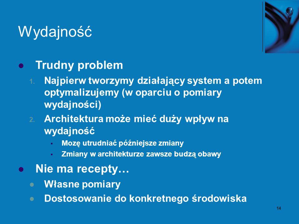 14 Wydajność Trudny problem 1.