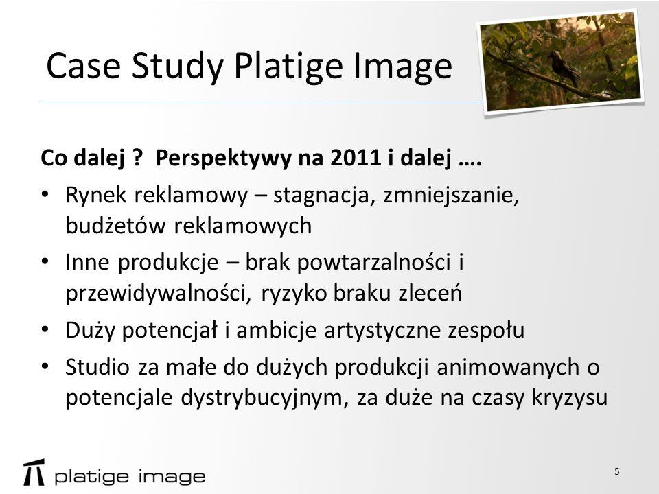 Case Study Platige Image Co dalej . Perspektywy na 2011 i dalej ….