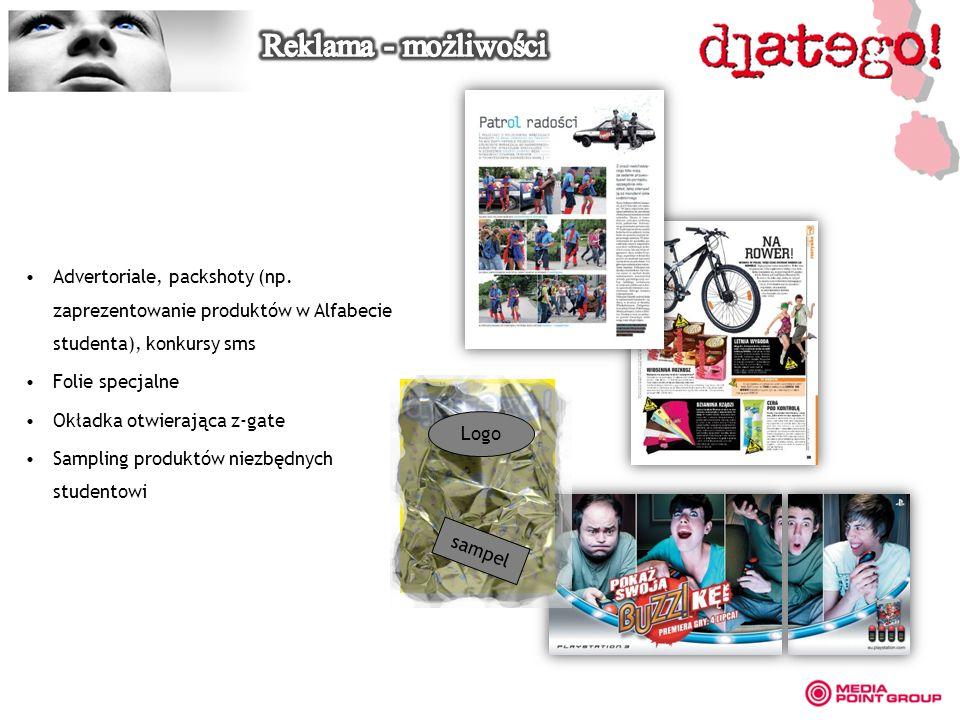 Advertoriale, packshoty (np.