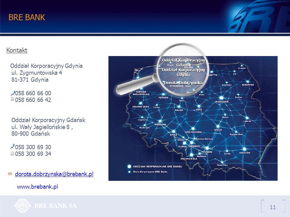 BRE BANK Kontakt Oddział Korporacyjny Gdynia ul.
