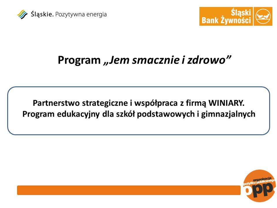 Program Jem smacznie i zdrowo Partnerstwo strategiczne i współpraca z firmą WINIARY.