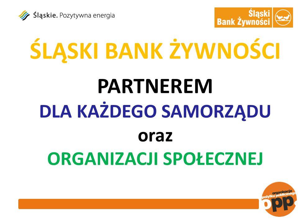 ŚLĄSKI BANK ŻYWNOŚCI PARTNEREM DLA KAŻDEGO SAMORZĄDU oraz ORGANIZACJI SPOŁECZNEJ
