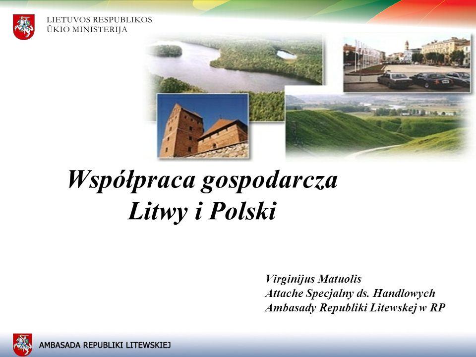 11 Współpraca gospodarcza Litwy i Polski Virginijus Matuolis Attache Specjalny ds. Handlowych Ambasady Republiki Litewskej w RP