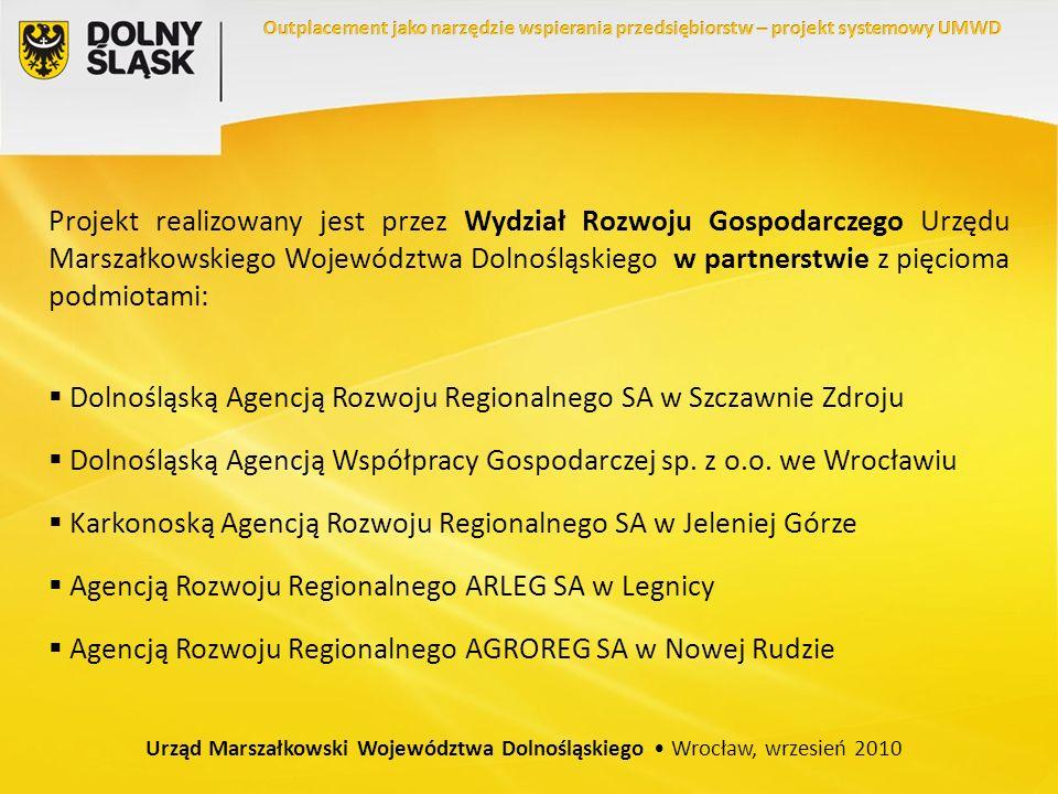 Projekt realizowany jest przez Wydział Rozwoju Gospodarczego Urzędu Marszałkowskiego Województwa Dolnośląskiego w partnerstwie z pięcioma podmiotami: Dolnośląską Agencją Rozwoju Regionalnego SA w Szczawnie Zdroju Dolnośląską Agencją Współpracy Gospodarczej sp.